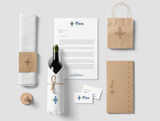 Corporate identity    Plaza Wine bar
